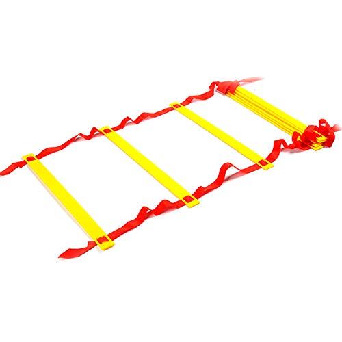 Agility - Escalera de agilidad de 6 m, 12 peldaños, para fútbol, velocidad, baloncesto, fútbol, fitness, entrenamiento con bolsa de transporte