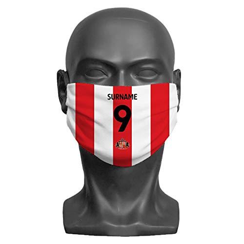 Made Just For You Official Licensed Sunderland AFC Back of Shirt Adult Face Mask (Large)