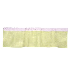 Lolli Living Poppy Seed Window Valance – Morocco Green –Cotton Window Treatment Or Accent Curtain for Gender Neutral Baby Nursery, Easy Installation