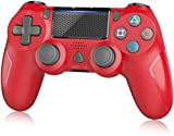 Wireless Controller for PS4, YAEYE Gamepad Joystick Wireless Remote Pro Controller for PS4/PRO/SLIM with Motion Motors and Built-in Audio Function (Red)