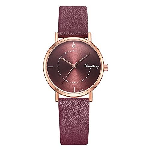 Reloj cronógrafo de cuarzo para mujer, reloj cronógrafo de cuarzo con función de fecha, reloj de pulsera de acero inoxidable para mujer (color : E)