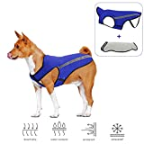 Slowton Dog Jacket, Winter Dog Coat Adjustable Pet Vest Reflective Stripe Waterproof Windproof Warm Snowsuit Detachable Flannel Lined Jackets Cold Weather Clothes for Small Medium Large Dogs (M, Blue)