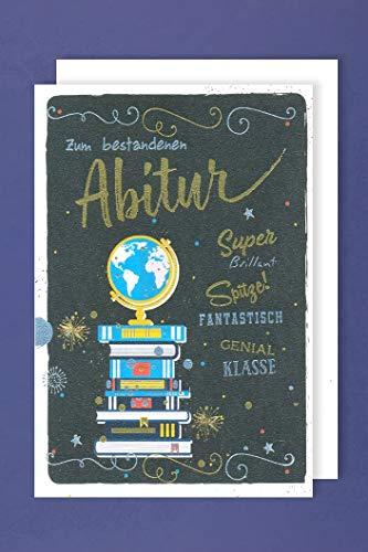 Abitur Karte Abschluss Grußkarte Folienprägung Genial Klasse 16x11cm Plus 3 Sticker