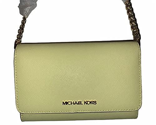Michael Kors Jet Set Large Saffiano Leather Convertible Phone Crossbody Bag (Buttercup)