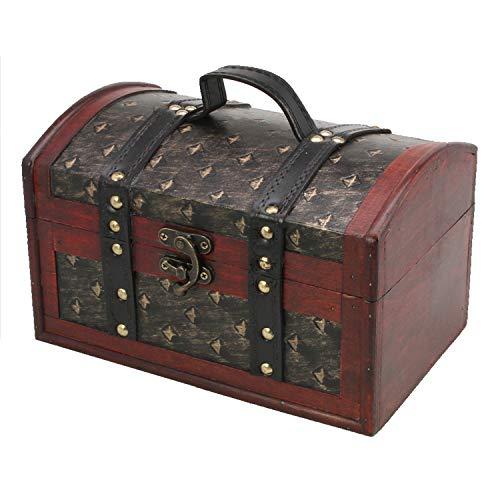 SAFE schatkist bruiloft motief Orient - houten kist, schatkist kinderen, cadeaubox, houten kist antiek, kist hout - huwelijksgeschenken voor bruidspaar geldgeschenken - 25 x 16 x 15 cm