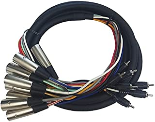 8-Channel Cable Up CU//SU804 13/' D-SUB 25 Male to RCA Male Audio Snake