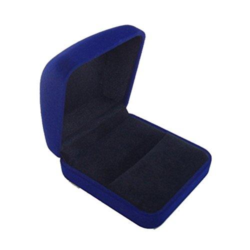 Distinct® Luxus samt Schmuck Ring Box Ohrring Ohrstecker Präsentationskoffer (blau)
