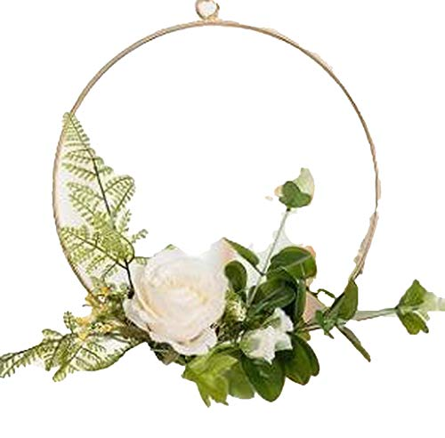 my cat Spring Summer Rose Wreath Farmhouse Forsythia For Floral Front Door Or Mantle Wedding Home Decor Christmas Garland Flower Arch