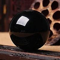 JIC Gem Natural Black Obsidian Sphere Ball Fengshui Healing