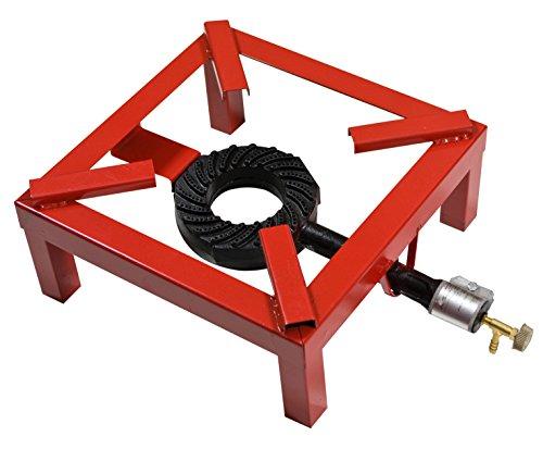 Pavi Cm 40 X 40 - Fornellone a gas 'extra' telaio in ferro tubolare verniciato. bruciatore in ghisa. con rubinetto di regolazione.