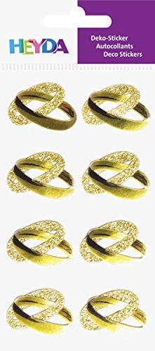Heyda 203780709 Stick-On's Mix, Motiv: Ringe gold