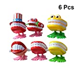 YeahiBaby Dente di Salto Bambino Bambini Dentale educativo Clockwork Wind-up Toy 6 PCS(Col...
