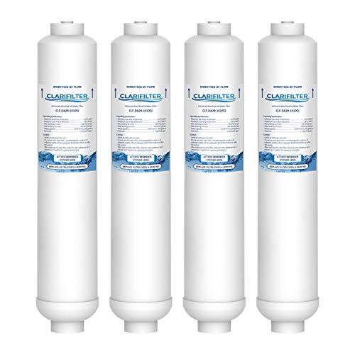 Clarifilter DA29-10105J Cartouche de Filtre d'Eau Frigidaire - Compatible avec Samsung Aqua Pure Plus DA29-10105J, HAFEX, DA2010CB, 5231JA2010B, WSF-100, EF9603; LG BL-9808, K32010CB; USC100 (4)