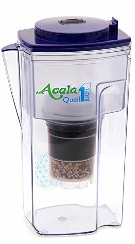 Wasserfilter AcalaQuell® One | Dunkelblau | Aktivkohle Wasserfilter | Höchste Filterleistung - mehrschichtig | BPA u. BPB frei | ReNaWa® - Technology | Kreiert köstliches, wohltuendes Wasser