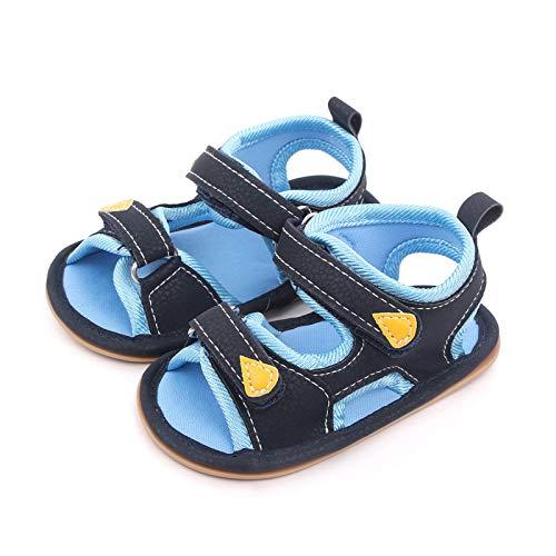 YWLINK Sandalias Deportivas NiñOs Zapatos para NiñOs Punta Cerrada Verano Playa Sandalias Zapatos,Zapatillas Antideslizante Fondo Blando Casuales Sandalias De Velcro