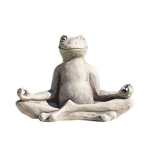 Vidroflor Yoga Frosch Steinguss 25 x 20 cm