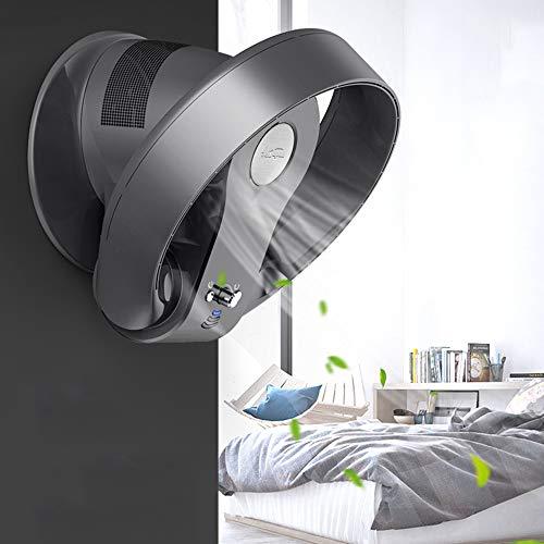 HRD Ventilatore da Parete Senza Pale, con Telecomando/Timer, Ventilatore raffreddata, Argento/Nero, 26W