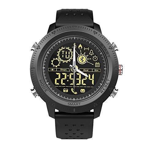 Relojes Inteligentes LJR NX02 Sport SMARTWATCK IP67 Impermeable Soporte Tracker Calorías Pedómetro SmartWatch Cronómetro Cronómetro Llame al RECORDATORIO SMS (Color : Negro)