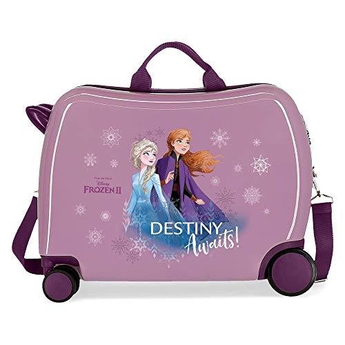 Disney Frozen Die Eiskönigin Destiny awaits Kinder-Koffer Violett 50x38x20 cms Hartschalen ABS Kombinationsschloss 38L 2,1Kgs 4 Räder Handgepäck