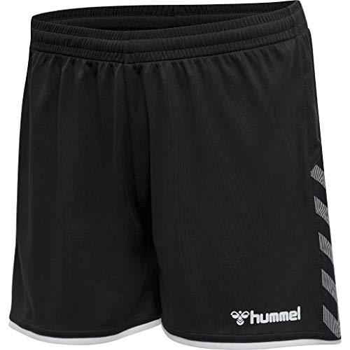 hummel Damen hmlAUTHENTIC Poly Shorts Woman, Black/White, M