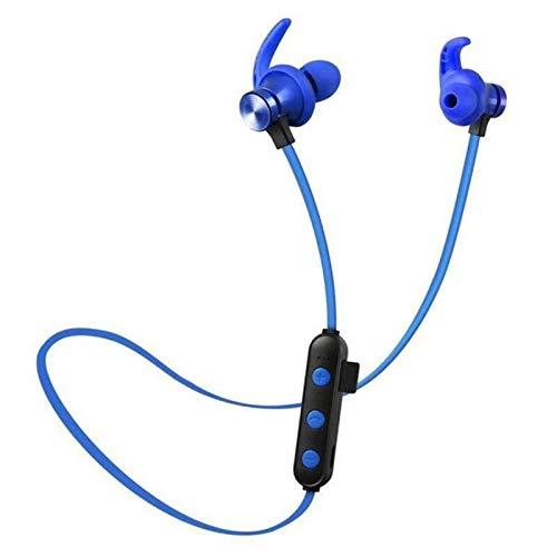 XZJJZ Auriculares inalámbricos Bluetooth, soporte HiFi con micrófono manos libres estéreo ejercicio extenuante no caerá, apto para todos los teléfonos inteligentes (color azul)
