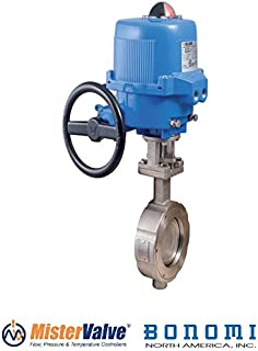 Bonomi ME9100-02 st. Steel Wafer Butterfly Valve 0-10VDC or 4-20mA pos. Electric Actuator 2