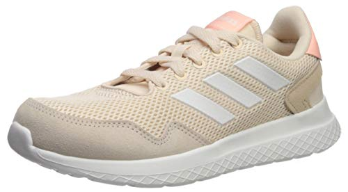 adidas Women's Archivo Sneaker, Linen/Cloud White/Glow Pink, 9 M US