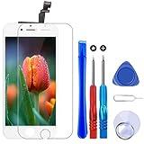 Brinonac Pantalla para iPhone 6 Plus, 5.5' Táctil LCD de Repuesto Ensamblaje de Marco Digitalizador con Herramienta de reparación y Protector de Pantalla (Blanco)