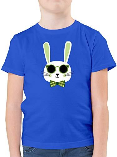 Ostern Kinder - Osterhase Sonnenbrille Grün - 116 (5/6 Jahre) - Royalblau - Tshirt Ostern - F130K - Kinder Tshirts und T-Shirt für Jungen