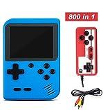 YUDOXN Consola de Juegos 3 Pulgadas 800 Juegos Retro FC Game Player Consola de Juegos Clásica 1 Carga USB para 2 Jugadores Soporte TV Juegos Portátiles Consolas Juega 3 Horas para Niños y Adultos …