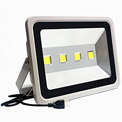 LED Flood Light 200W Outdoor Waterproof –Jiuding 20000 Lumens Super Bright 6000K White Light for garages Lighting, patios Lighting, playgrounds Lighting (Gray)5000 Hours Life 3 Year Warranty