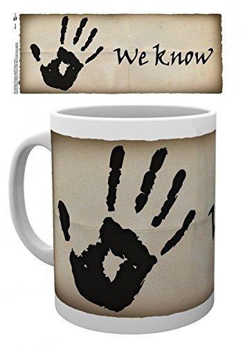 1art1 Skyrim, The Elder Scrolls V, We Know Foto-Tasse Kaffeetasse (9x8 cm) Inklusive 1x Überraschungs-Sticker
