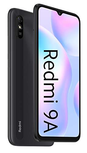 """Xiaomi Redmi 9A - Smartphone 2GB 32GB, Pantalla HD de 6.53"""",MediaTek Helio G25, batería 5000mAh, Cámara Trasera de 13MP Al, Gris"""