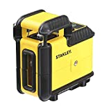 Stanley STHT77594-1 360 ° Laser Level SLL360 - Green beam 4x brighter - waterproof IP50 - double 1/4 'thread - range 25m - Accuracy  /- 4mm - reinforced coating