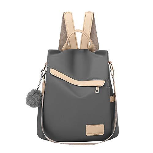 Anti furto piccolo zaino borsa per le donne, nylon impermeabile ragazze zaino borsa