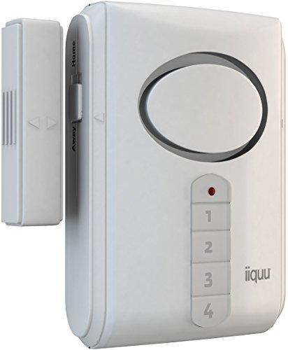 iiquu Home Safety Tür- und Fenster-Alarm mit Zahlencode, 510ILSAA003