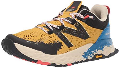 New Balance Men's Hierro V5 Fresh Foam Trail Running Shoe, VARSITY GOLD/NEO CLASSIC BLUE, 8.5 D US