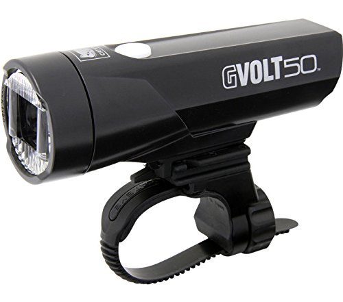 Cateye GVolt 50 HL-EL550G RC Frontlicht, schwarz/Rot, One Size