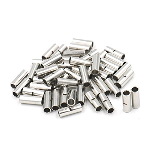 Baomain 150pcs Copper Uninsulated Wire Ferrule Cable Crimp Terminals Butt Connector(10-12 AWG (4.0-6.0mm²) / 14-16 AWG (1.5-2.5mm²) / 18-22 AWG (0.5-1.0mm²),each size 50pcs)
