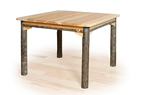 "Solid Top Rustic Hickory Dining Table -42"" X 60"""