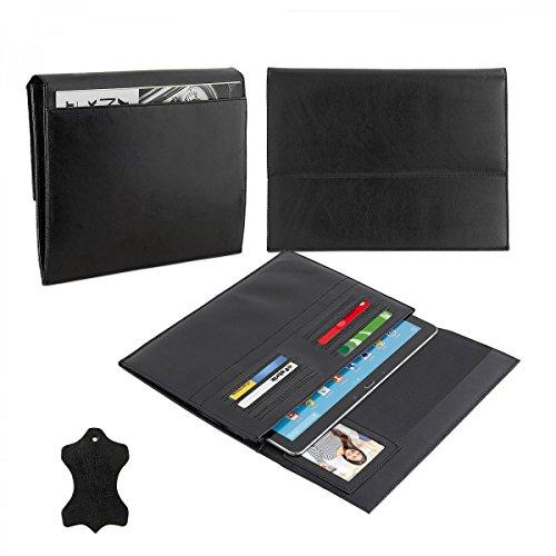 eFabrik Ledertasche für Medion LifeTab P8502 Cover MD99814 8 Zoll Schutz Hülle Case Etui Lederhülle Sleeve Folio Leder schwarz