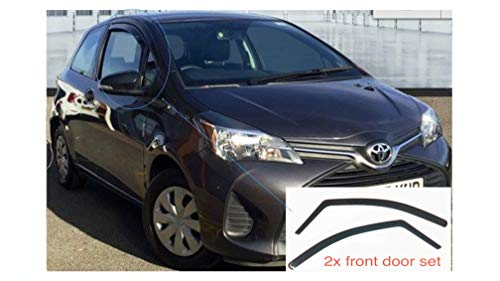 2 x Windabweiser kompatibel mit Toyota Yaris 2010-heutige 3-Türer