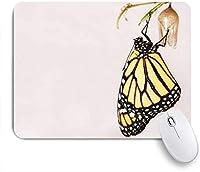 VAMIX マウスパッド 個性的 おしゃれ 柔軟 かわいい ゴム製裏面 ゲーミングマウスパッド PC ノートパソコン オフィス用 デスクマット 滑り止め 耐久性が良い おもしろいパターン (創造的なかわいい動物旅行蝶)