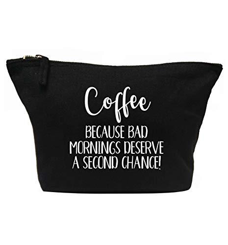 Flox Creative Make-up-Tasche Coffee Bad Mornings Chance schwarz