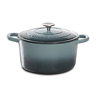 Crock Pot Artisan 5QT Enameled Cast Iron Dutch Oven, Gray