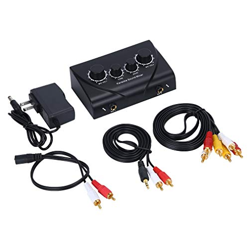 YLWL Mezclador de Sonido de Karaoke Sistema de Audio Profesional Sonido de Audio Digital portátil Máquina de Karaoke Echo Mixer System (Negro)