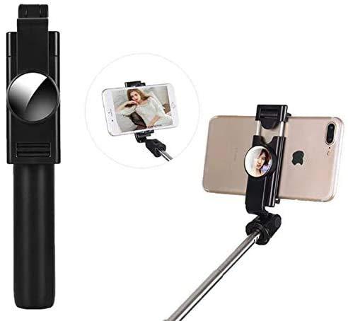 Selfie Stick Bluetooth-Statief, 360 ° Rotatie Uitschuifbare Selfie Stick-Statief Met Draadloze Afstandsbediening Voor Smartphone-Video-Opnamen, Vlog, Selfie