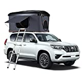 KingCamp Rooftop Tent Hard Shell for SUV Travel Pop-up Installation Tent Large Space Suitable for 2 People with Ladder & Waterproof Hard Shell Tent Overland Roof Top Tent (Grey)