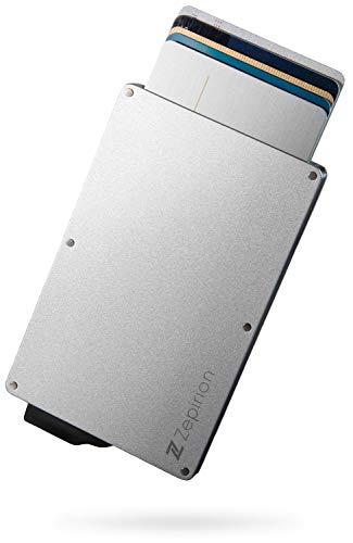 [zepirion] クレジットカードケース スキミング防止 磁気防止 スライド式 アルミニウム シルバー(クリップ無し)