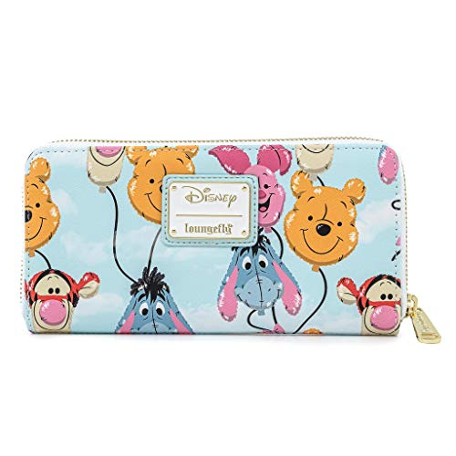 Loungefly Disney Winnie The Pooh Balloon Friends Zip Around Faux Leather Wallet
